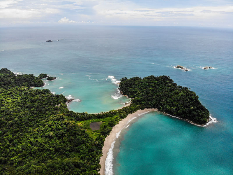 Aerial view Manuel Antonio National Park