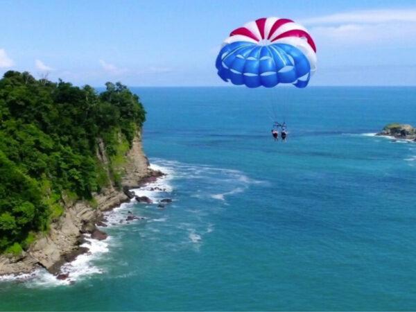 Group parasailing from Manuel Antonio Beach