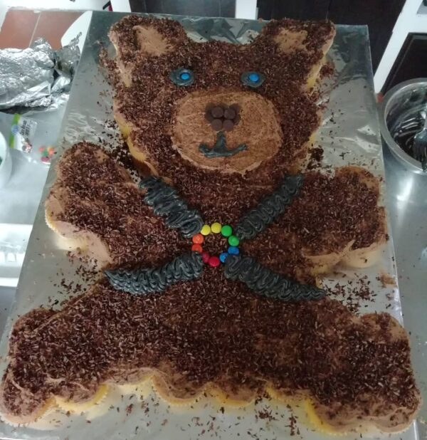 Bear cake made fo guests for Bear Weekend