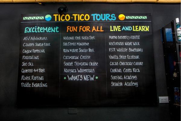 Pick your tour activity