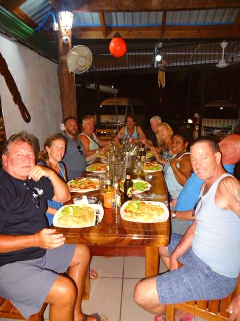 Activity with guests to a local restaurant for dinner.